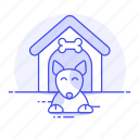 dog, doghouse, house, kennel, outdoor, pet, puppy, shelter, yard