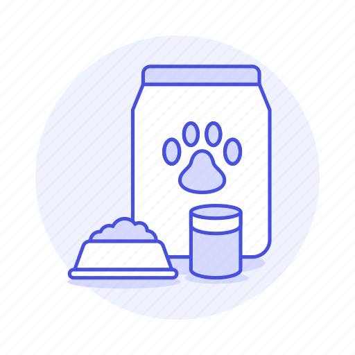 animal, bag, bowl, care, cat, cup, dog, food, kitty, measuring, pet, plate, puppy icon