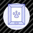 animal, dog, footprint, frame, love, painting, paw, pet, photo, pride