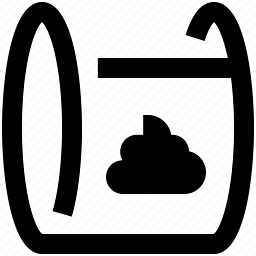 animal, bag, dog, feces, park, pet, shit icon