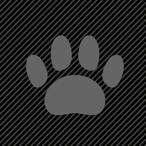 imprint, paw, step, trace, track, trail, vestige icon