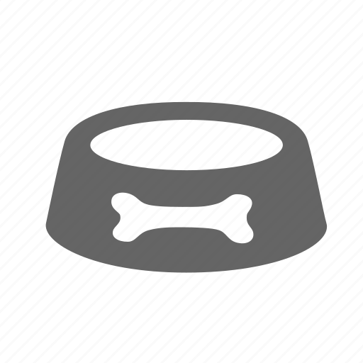 bowl, dish, drink, feed, food, pet icon