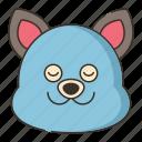 animal, beauty, blueberry, facial icon