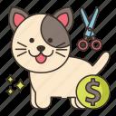 animal, dog, fees, grooming icon