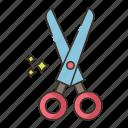 grooming, saloon, scissors, shears icon