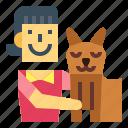 hug, love, people, pets