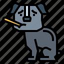 dog, mercury, pets, thermometer icon