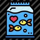 aquarium, fish, heart, life, sea