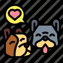 dog, hearts, love, pets