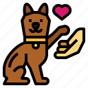 animals, cat, hand, lovers, pets icon