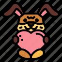 bunny, heart, pets, rabbit
