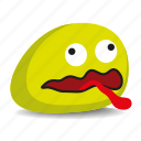 pet-rock, rock, shocked, tongue-out icon