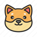 dog, pet, shiba, shop icon
