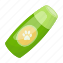 accessory, animal, bottle, dog, product, sticker, trace icon