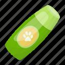 accessory, animal, bottle, dog, product, sticker, trace