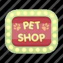 emblem, inscription, label, pet, plate, shop, sticker