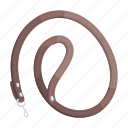 accessory, animal, leash, leather, sling, strap icon