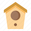 bird house, garden, house, pet, shop icon