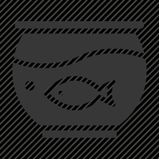 bowl, fish bowl, pet, shop icon