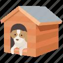 dog, dog shed, doghouse, house, kennel, pet