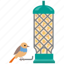 aviary, bird, bird feeder, feeder, seed, wild icon