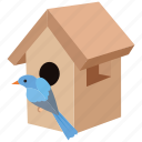 birdhouse, nest, nest box, house, bird, box