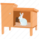 hut, home, hutch, pet, rabbit, house