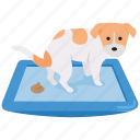 dog, litter, pan, poo, toilet, tray icon