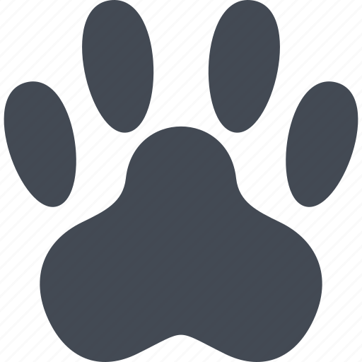 animal, animal paw, paw, pets icon