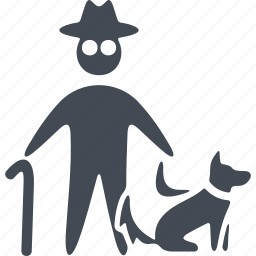 animal, dog, man with a dog, pets icon