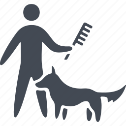 animal, comb, combing, dog, pets icon