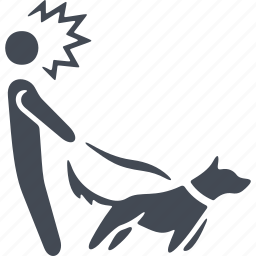 animal, dog, lead, man with a dog, pets icon