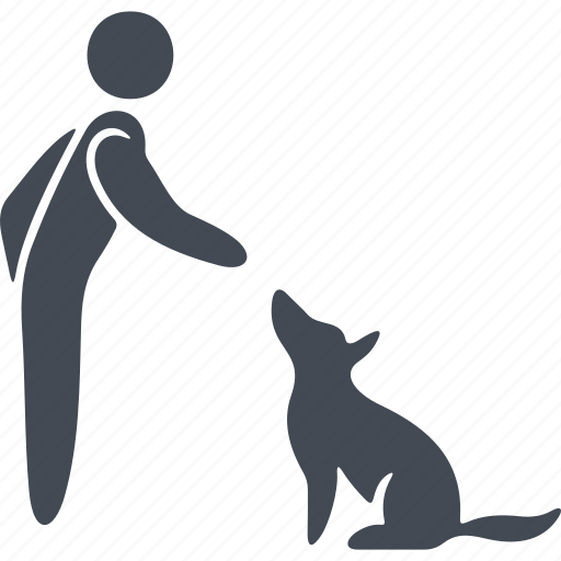 animal, dog, human, pet, pets icon