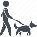 animal, dog, man, pets, walking the dog icon