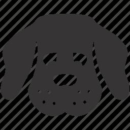 animal, dog, pet, puppy, sad, toy icon