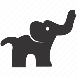 africa, animal, elephant, wild, zoo icon