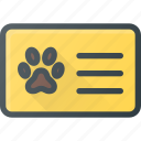 animal, cat, dog, id, pet, pets icon