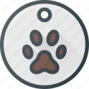 animal, dog, medal, pet, pets, tag icon