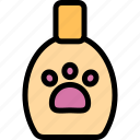 breed, paw, shampoo, soap icon