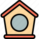 bird, bird house, house, pet icon