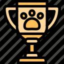award, paw, prize, trophy icon