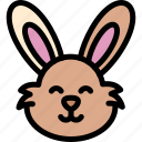 happy, pet, pets, rabbit icon