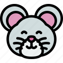 cute, hamster, mouse, pets icon