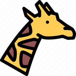 animals, fauna, giraffe, pet store, pets, vet icon
