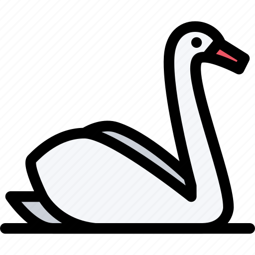 animals, fauna, pet store, pets, swan, vet icon
