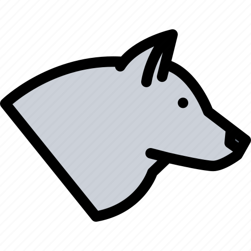 animals, fauna, pet store, pets, vet, wolf icon