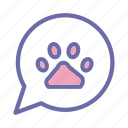 petshop, pet, shop, dog, footprint