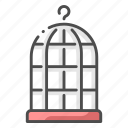bird, cage, imprisoned, live, pet, shop icon