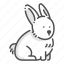 beautiful, cute, animal, pet, rabbit, bunny icon