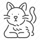 animal, cat, cute, friend, happy, pet icon